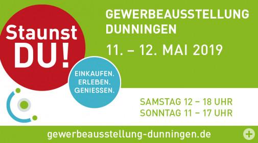 Gewerbeausstellung Dunningen 11. - 12. Mai 2019